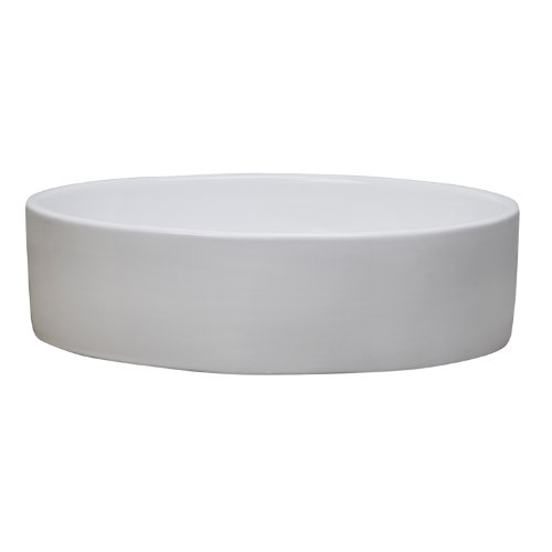 Decolav Counter Lavatory Sink - DECOLAV 1459-CWH Jaelyn Classically Redefined Oval Vitreous China Above-Counter Lavatory Sink, White