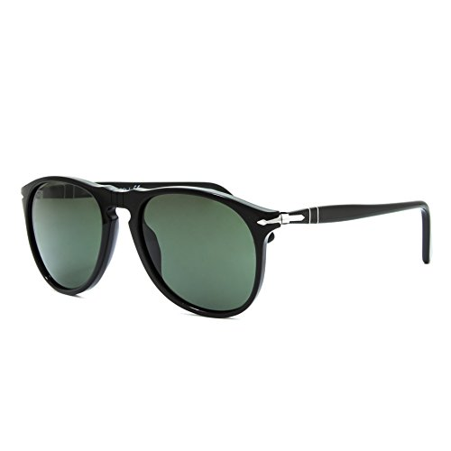 Persol Men's PO9649S Sunglasses Black / Crystal Green - Persol Black