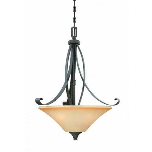 - Thomas Lighting M2664-63 Magnolia Three-Light Pendant, Painted Bronze
