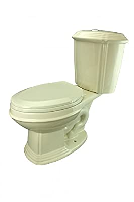 Renovator's Supply Biscuit China Dual Flush Two-Piece Toilet With Elongated Seat