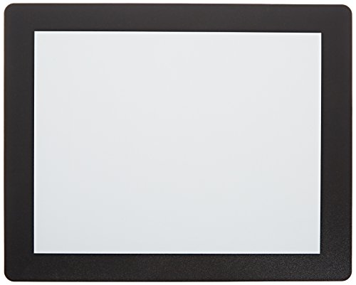 Displays2go Set of 20, Counter Mats with Rubber Non-Skid Bottom and Clear Lens, Tabletop Sign Holders Display 8.5 x 11 Graphics (CMTBK1185) by Displays2go