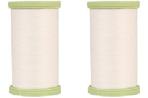 (2 Pack) Coats Dual Duty Plus WHITE Hand Quilting Thread Strong all purpose with glace (glazed) finish ()