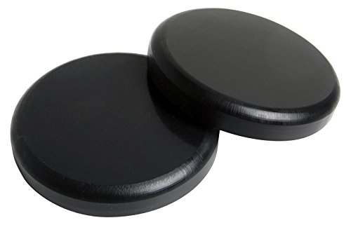 de Pucks - Black, Sold as a Pair, Extremely Durable Delrin Slide Pucks Backed with Die Cut Velcro, Low Friction for Easy Slides with Optimal Protection (Die Slide)