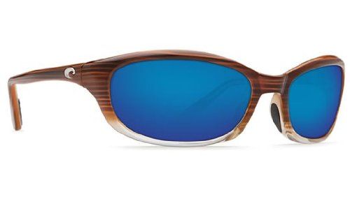 Costa Del Mar Sunglasses - Harpoon- Glass / Frame: Wood Fade Lens: Polarized Blue Mirror Wave 400 - Costa Mar Del Models