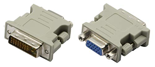 CGTime (2Pack) DVI-I 24+1 Male to VGA HD15 Female Adapter Nickel Plated for Gaming, DVD, Laptop, HDTV and Projector