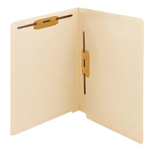 (Smead End Tab Fastener File Folder, Shelf-Master Reinforced Straight-Cut Tab, 2 Fasteners, Letter Size, Manila, 50 per Box (34120))