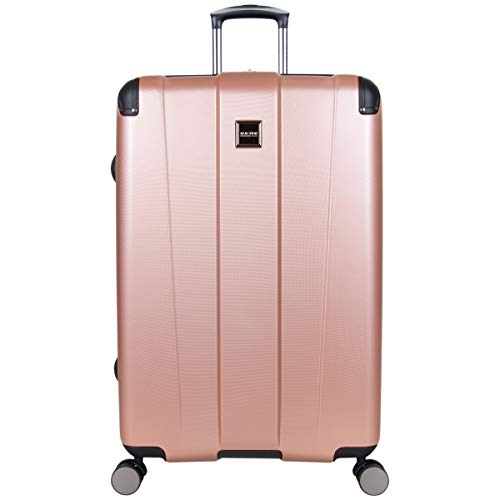 Kenneth Cole Reaction Continuum Hardside 8-Wheel Expandable Upright Spinner Luggage, Rose Gold, 28-inch Check Only