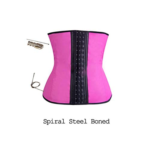 Latex Waist Trainer for Women Latex Waist Cincher Belt Hot Shapewear,Sexy Corset,M