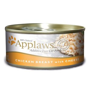 Applaws Chicken Breast with Cheese Canned Cat Food Topper 2.47 Ounces, Case of 24