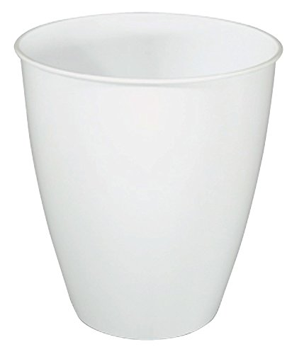 United Solutions WB0222 Round Wastebasket, 3 Gallon, White