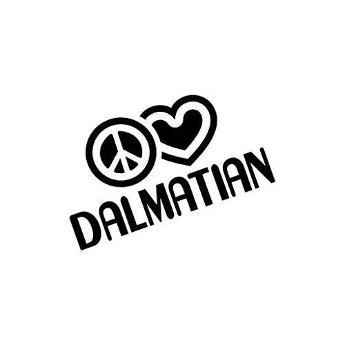 PEACE LOVE DALMATIAN Dog Dogs Car Laptop Sticker Decal ()