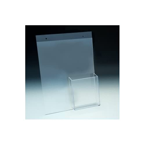 8.5x11 Clear Acrylic Wall Mount Sign Holder Combination Frame with Holes and 4x9 Brochures Lot of 5 Item SN2604-BP-5 for cheap