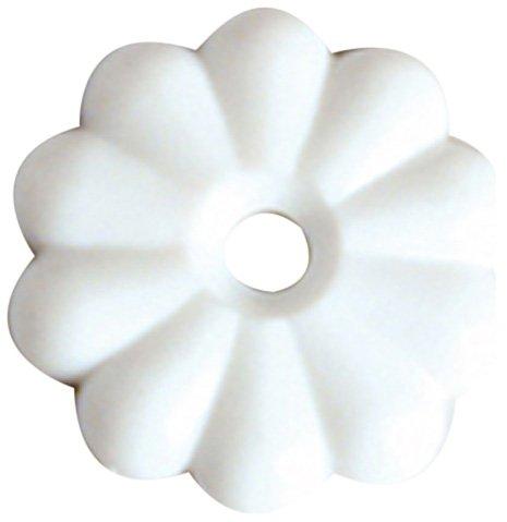 Screws Rosette - RV Designer H613 White Rosettes Washer, (Pack of 14)