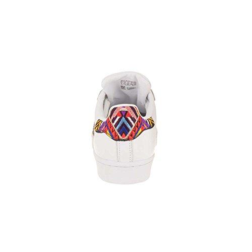 Adidas Originals Women's Superstar W Sneaker, Ftwr White, Core Black, Gold Met, 6 M US