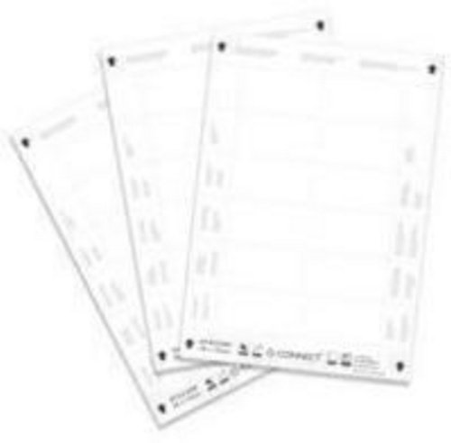 Q-Connect 54 x 90 mm Name Badge Inserts 10 Per Sheet KF02289 - Pack of 25