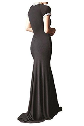 Festlichkleider Schwarz La Elegant Lang Partykleider Abendkleider mia Braut Festlichkleider Etuikleider Brautmutterkleider ZrZxn7pqv