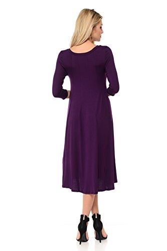 in Trapeze Pastel Purple by 25 Dress Midi Line Vivienne Made Women's Colors USA A qrzSRwqC