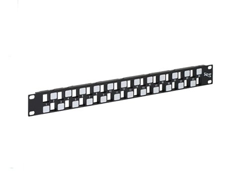 - ICC Rack Mounted Steel Patch Blank Panel EZ,Pre-Numbered 24-PORT, 1 RMS Black