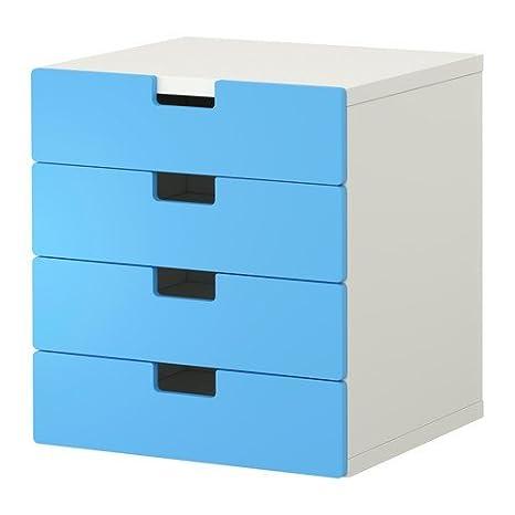 IKEA STUVA - Cassettiera con 3 cassetti, bianco e blu: Amazon.it ...