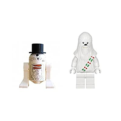 LEGO Chewbacca Snow and R2-D2 Snowman Minifigures Star Wars: Toys & Games