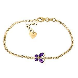 QP bijoutier Améthyste Bracelet Marquise en or 9 carats, 0.60ct 5019Y Cut