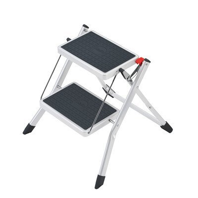 2-Step Steel Mini Step Stool with 330 Ib. Load Capacity Color: White by Hailo USA Inc.