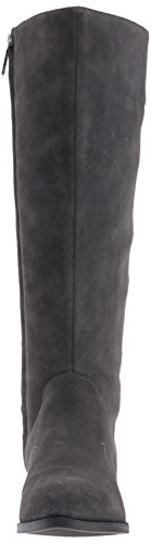 Nine Suede Grey Knee Nicolah Dark High Women's West Boot qrw8tr