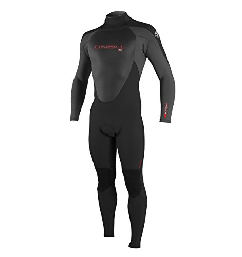 O'Neill Wetsuits Men's 4/3 mm Epic Full Suit, Medium, Black/Smoke