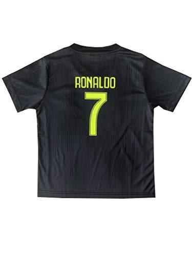 bed6f3ea4 GamesDur 2018/2019 Cristiano Ronaldo #7 Third Black Soccer Kids Jersey &  Short &