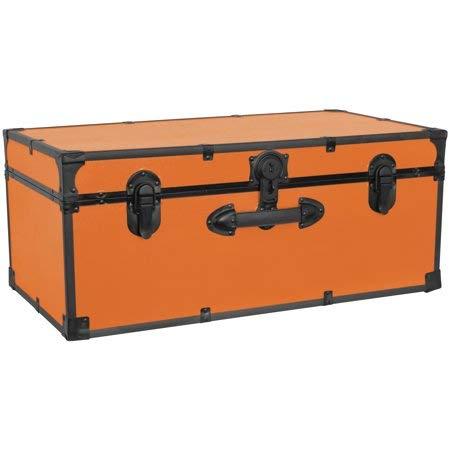 Seward Trunk [SWD5116-30] - 30 Inches Barracks Footlocker Trunk, Orange by Seward Trunk