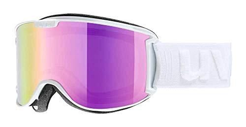 Uvex Skyper LM Ski Goggle - White Mat with Pink Lens