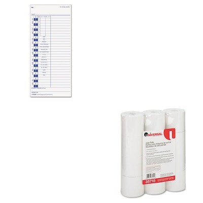 Top12443 Tops (KITTOP12443UNV35715 - Value Kit - Tops Time Card for Pyramid (TOP12443) and Universal Adding Machine/Calculator Roll (UNV35715))