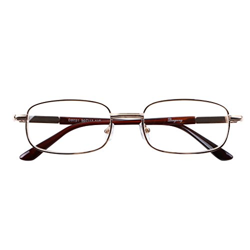 Bi Tao Golden Metal Reading Glasses 5.00 Strengths Men Women fashion Reading - Fashion 5.00