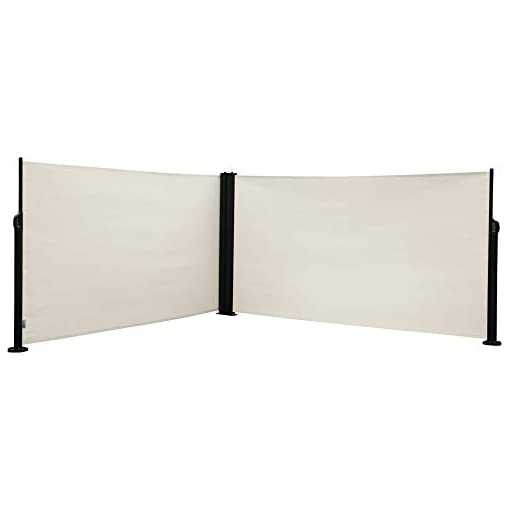 Garden and Outdoor Abba Patio Retractable Double Folding Awning Screen Fence, Sun Shade and Wind Screen Privacy Divider for Garden, Outdoor… patio awnings