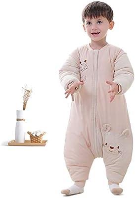 AYQ Bebé Saco de Dormir, Unisex Mono Saco de Dormir para Bebés Niños Niñas con Mameluco Pijama Ropa de Dormir Bebés para Otoño Primavera para Niños Niñas ...