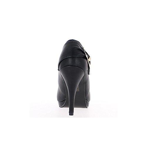 Schwarze Schuhe mit dünnen Absätzen von 10cm und vorne Schuh