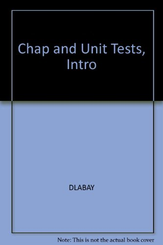 (Chap and Unit Tests, Intro)