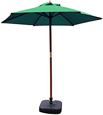 ZHTY Sombrillas portátiles Sombrilla de 7 pies Sombrilla de Mesa de jardín al Aire Libre, Sombrilla de jardín para Acampar con Soporte de Madera Maciza: Amazon.es: Deportes y aire libre