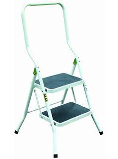 Outstanding Abru 220322 Step High Handrail Step Stool Black Amazon Bralicious Painted Fabric Chair Ideas Braliciousco