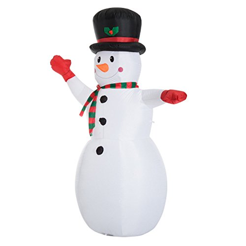 Outdoor Lighted Snowman Head - 2