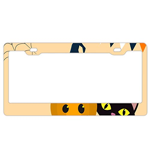 KSLIDS Happy Halloween Three Pumpkins License Plate Covers
