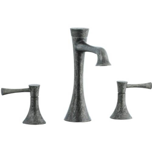 Cifial 245.130.R20 Brookhaven Widespread Bathroom Sink Faucet with Crown Lever Handles, Rough Nickel