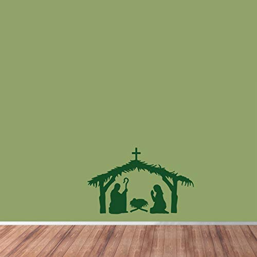 "Sweetums Signatures Nativity Scene Wall Decal 72"" Wide x 46"" Tall Mint"
