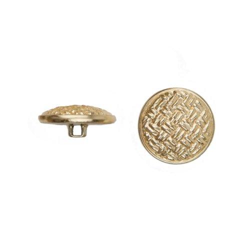 C & C productos de Metal 5037tela botón de metal, talla 45, Ligne, oro, paquete de 36
