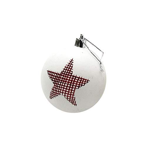 ❤ZTY66❤ 2018 Christmas Ball Ornament Annual Decoration (6cm) ()