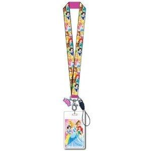 Disney Lanyard w/Soft Touch Dangle Princess 86084, Pink, 3