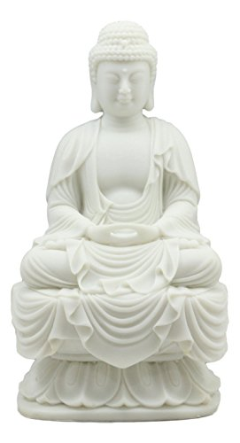 Ebros Eastern Enlightenment Meditating Buddha Amitabha Statue 7.25