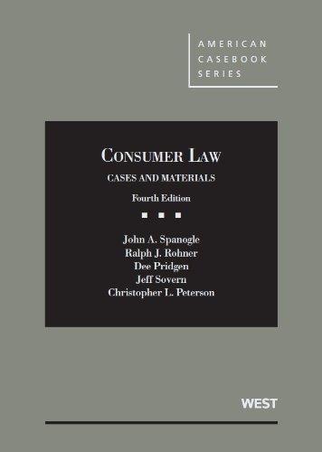 Consumer Law (American Casebook Series)