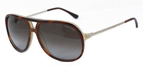 Tom Ford FT0333 Damian Des lunettes de soleil Marron 56J Homme
