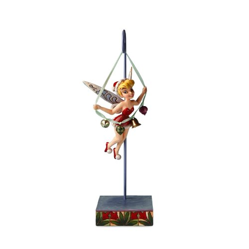 Enesco Disney Traditions by Jim Shore 4016568 Tinkerbell Holding String of Bells Hanging on a Stand Figurine, 10-1/4-Inch